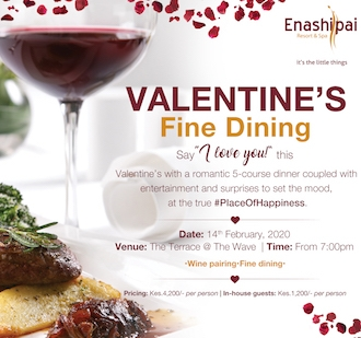 Valentines Fine Dining at Enashipai Resort and Spa