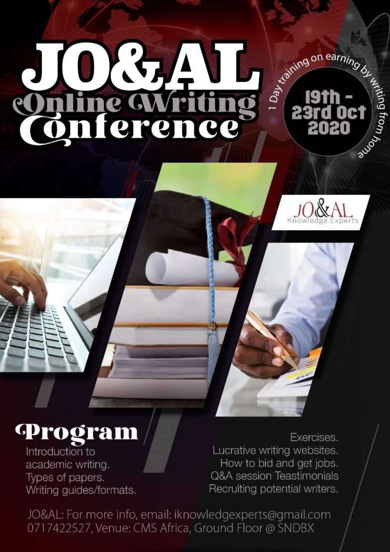 JO & AL Online writing conference