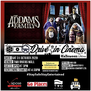 THE ADDAMS FAMILY - Drive In Cinema at Two Rivers
