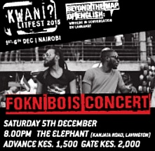 Love Concert: Kwani? for Binyavanga feat. FOKN Bois + Friends