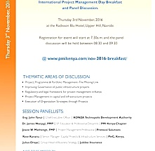 International Project Management day Breakfast & Panel