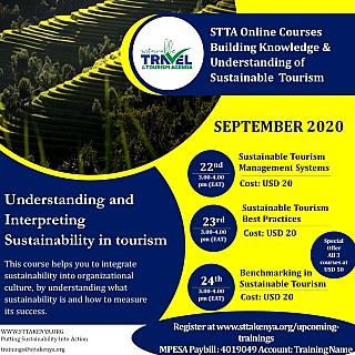 Sustainable Tourism Online Training on understanding & interpreting sustainable tourism