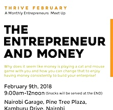 Thrive February 2018 : The Entrepreneur and Money