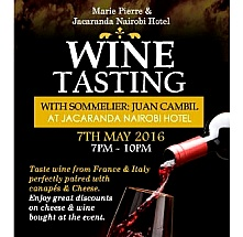 Wine Tasting with Marie Pierre and Jacaranda Hotels May 2016