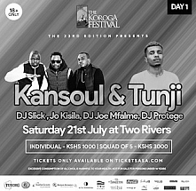 DAY 1: SATURDAY 21st July: The Koroga Festival 23rd Edition