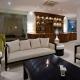 Swahili Beach palm bar seats