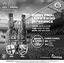 Rugby Final Viewing Party with Heineken