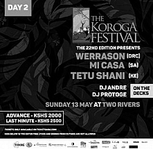 DAY 2: The Koroga Festival 22nd Edition: SUNDAY 13th May