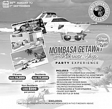 Mombasa Getaway with Cruise Ship Party Experience
